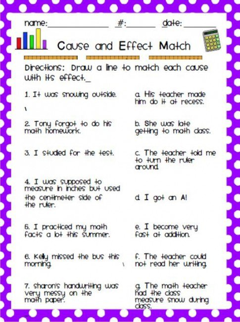 Cause And Effect 3rd Grade Worksheets 276559