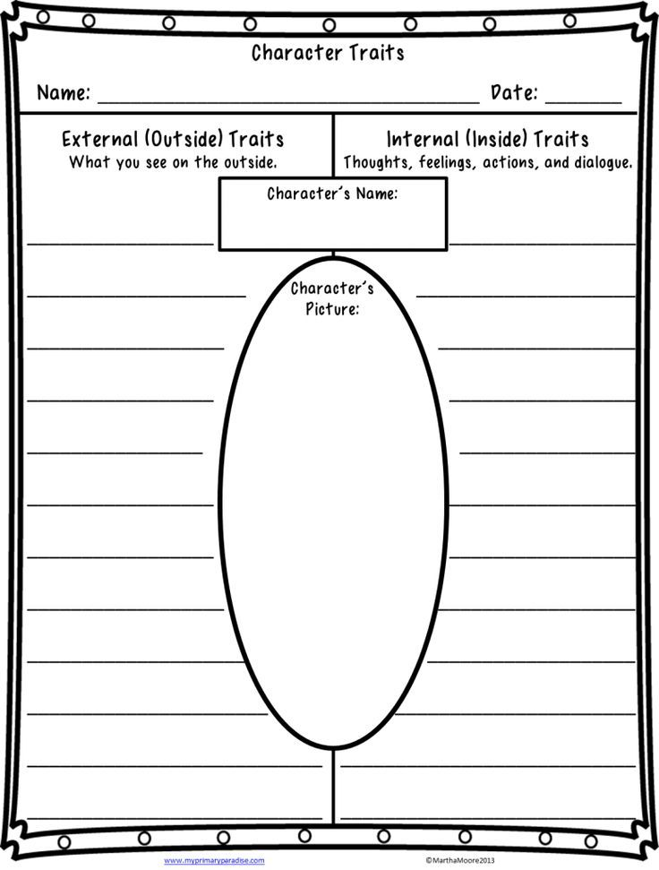 Character Traits Worksheet Quite A Character Teaching Character