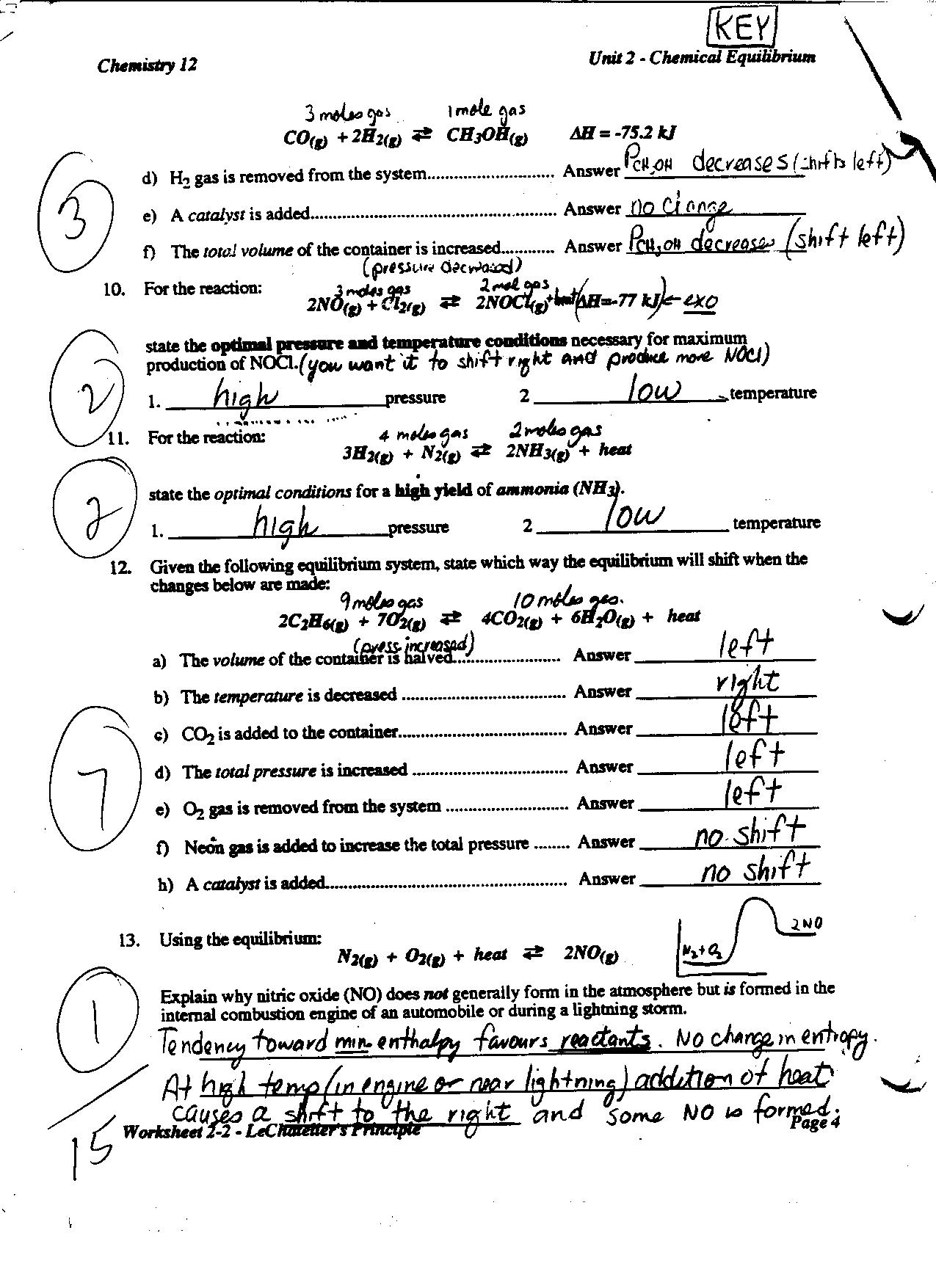 Chemistry Worksheets With Answer Key The Best Worksheets Image