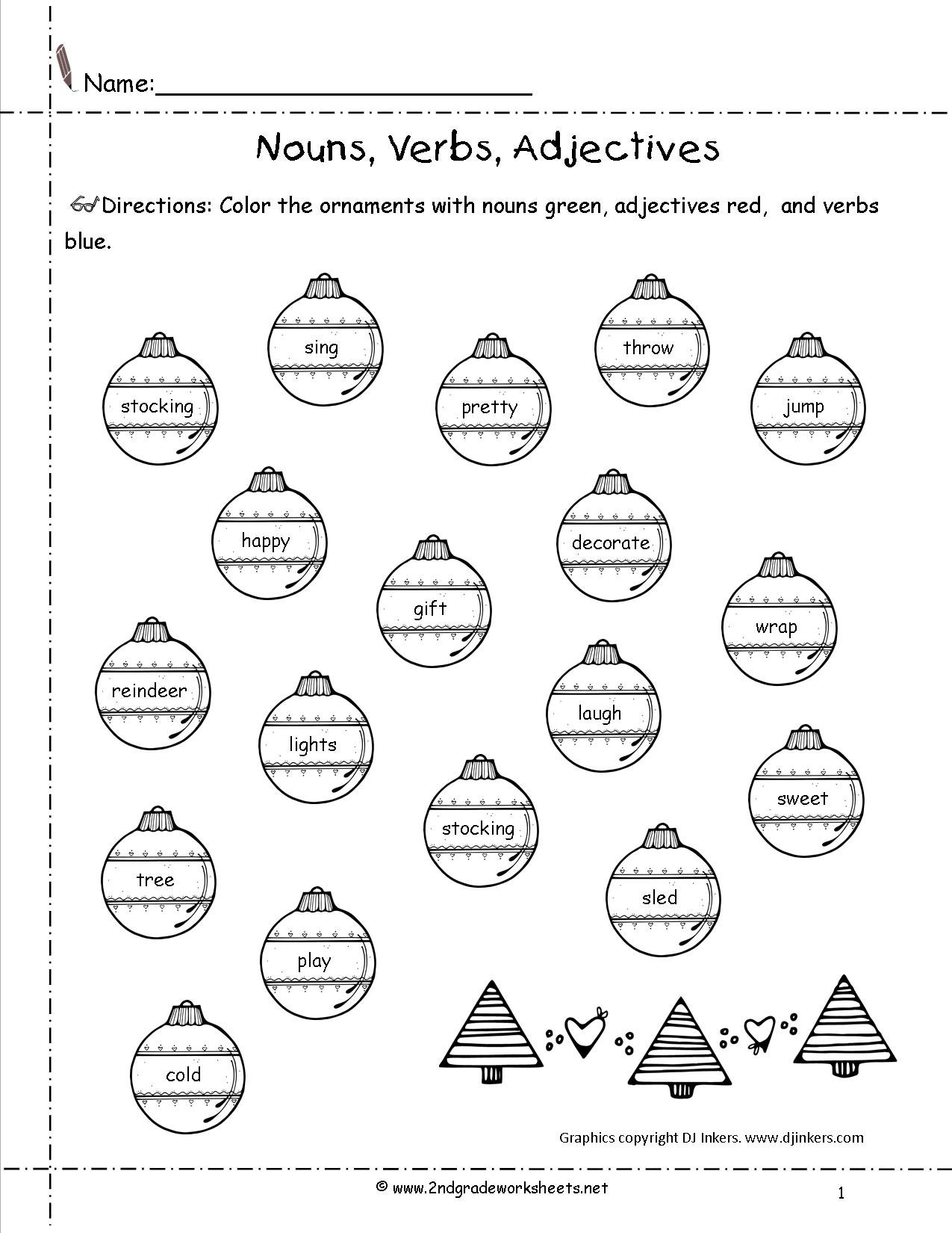 Christmas Adjectives Worksheet The Best Worksheets Image