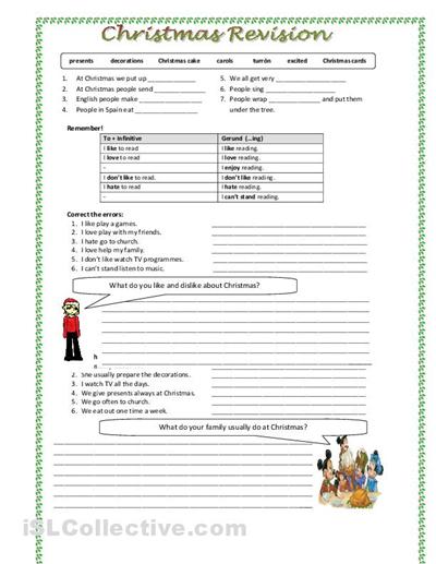 Christmas Science Worksheets