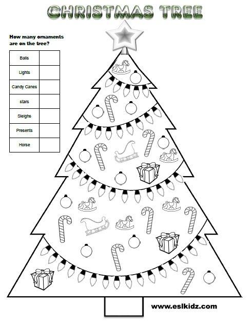 Christmas Tree Worksheets For Kindergarten The Best Worksheets