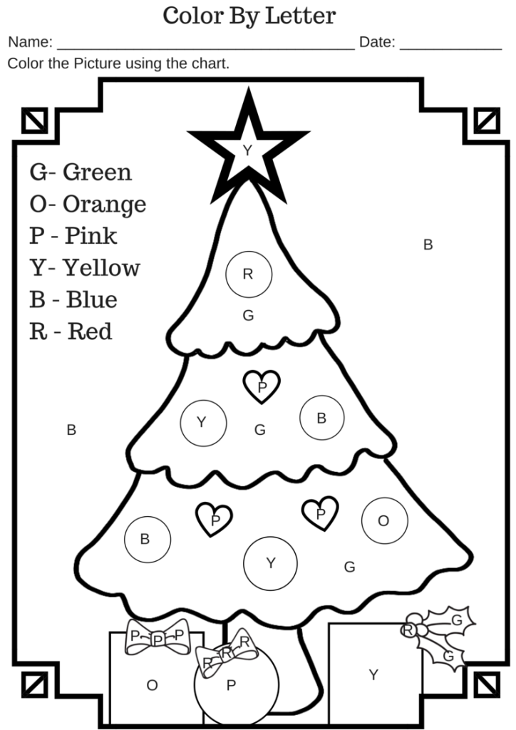 Christmas Tree Worksheets The Best Worksheets Image Collection