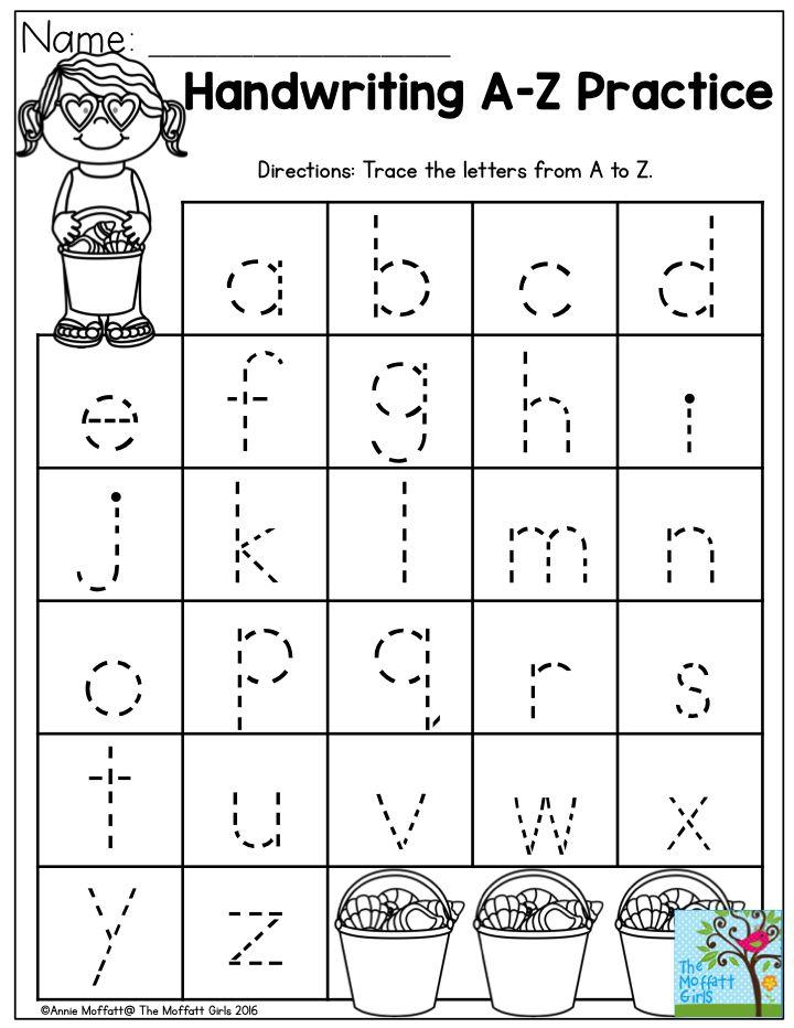 Collection Of Beginning Handwriting Worksheets Preschool