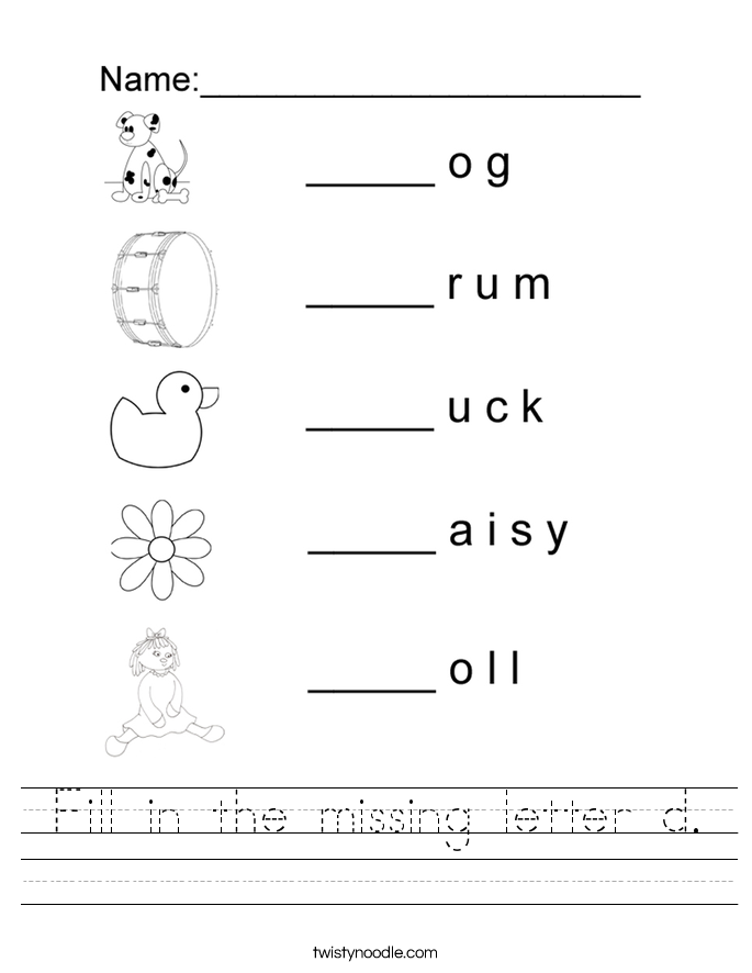 Collection Of Free Letter D Handwriting Worksheets