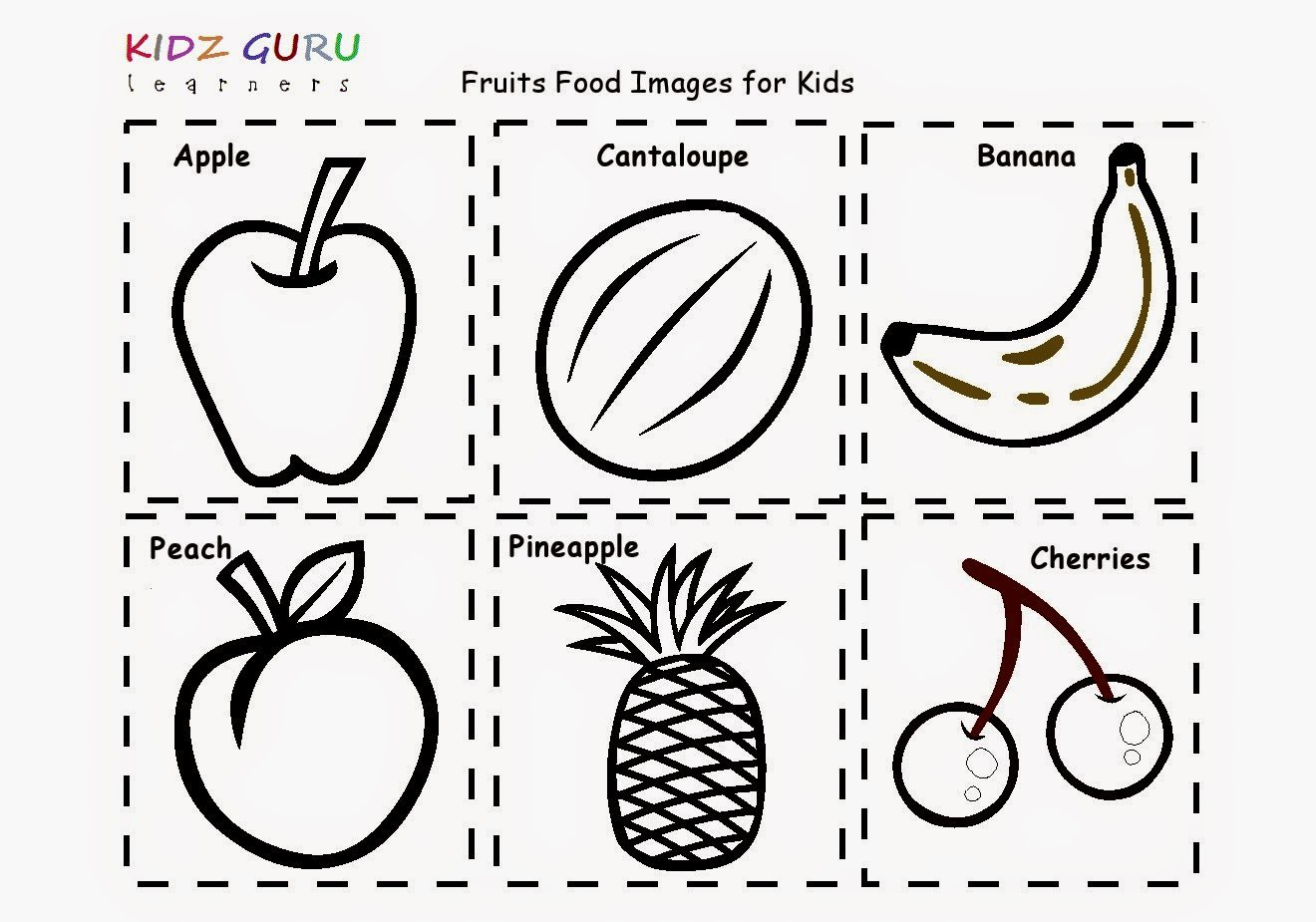 Collection Of Fruits Worksheets For Kindergarten Pdf