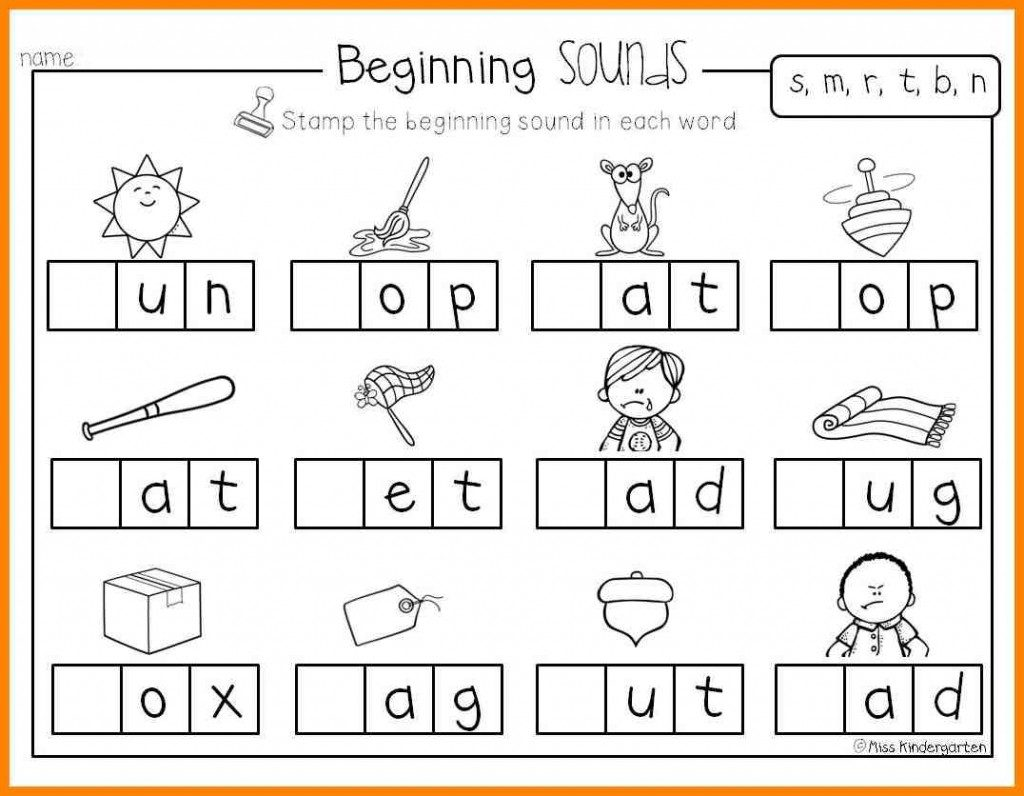 Collection Of Initial Sounds Worksheets For Kindergarten