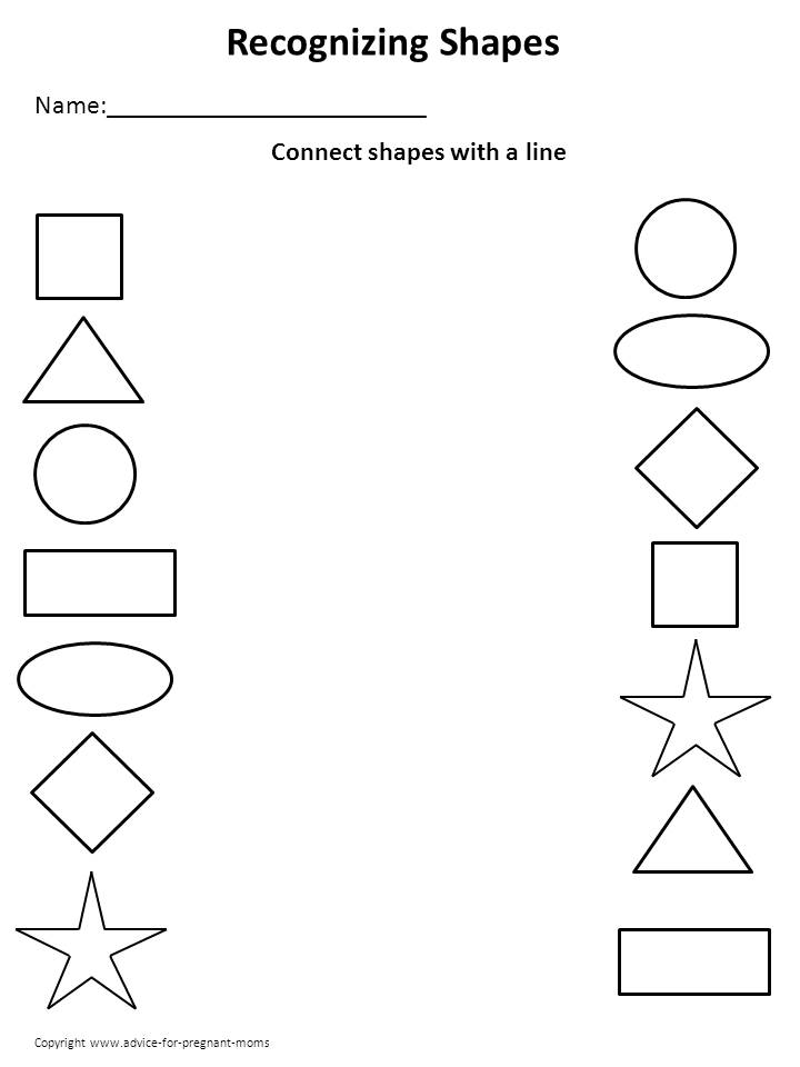 Collection Of Kindergarten Matching Shapes Worksheets