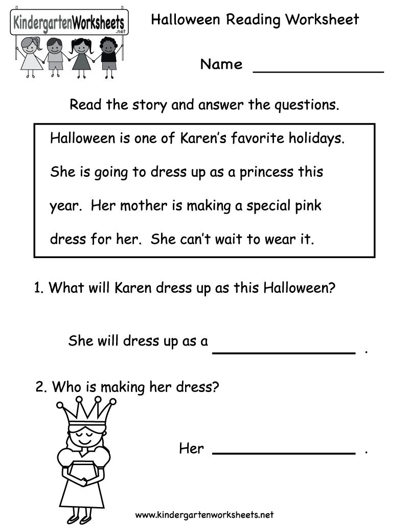 Collection Of Kindergarten Reading Worksheets Printable