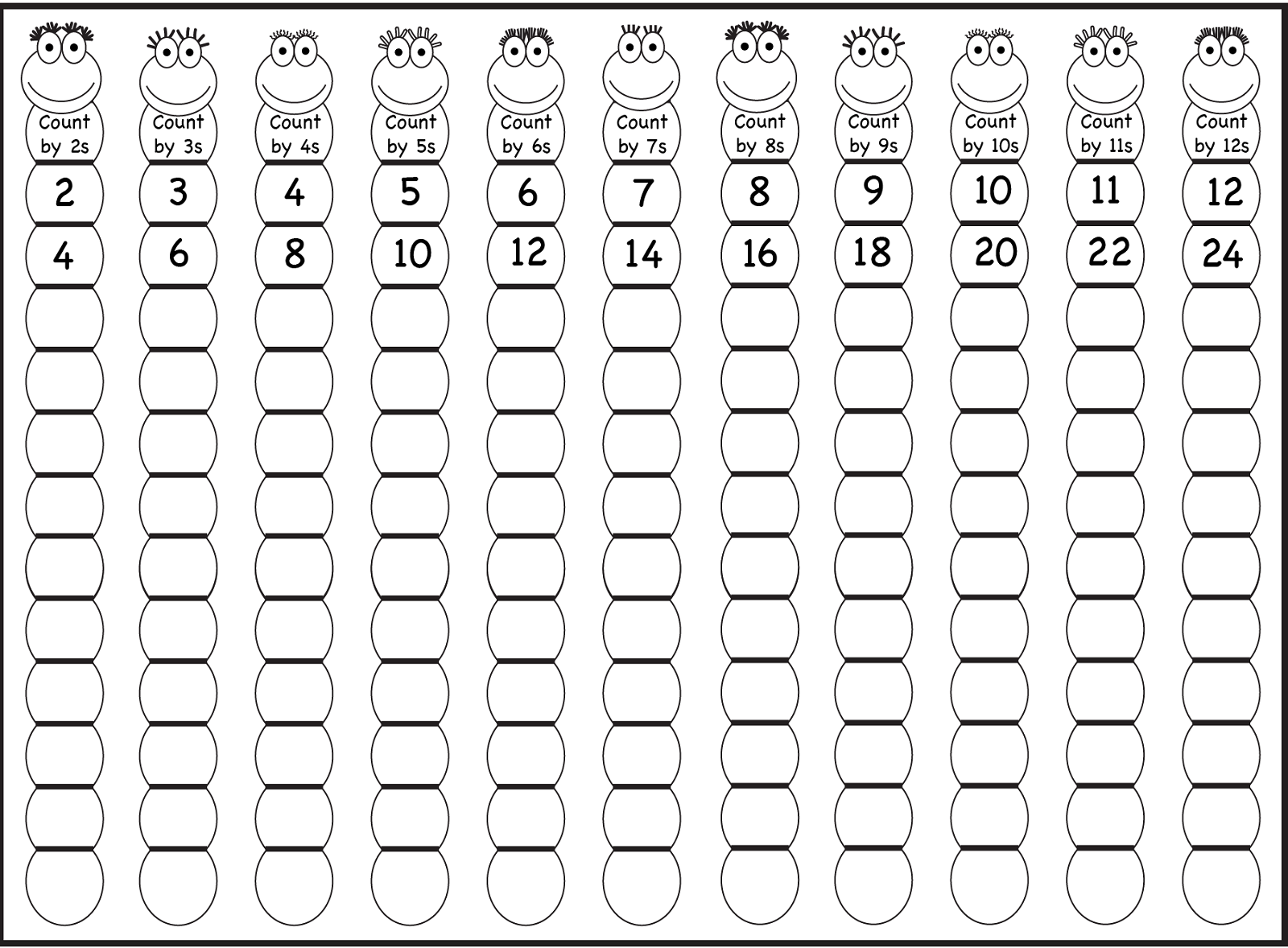 Collection Of Kindergarten Skip Counting Worksheets Free