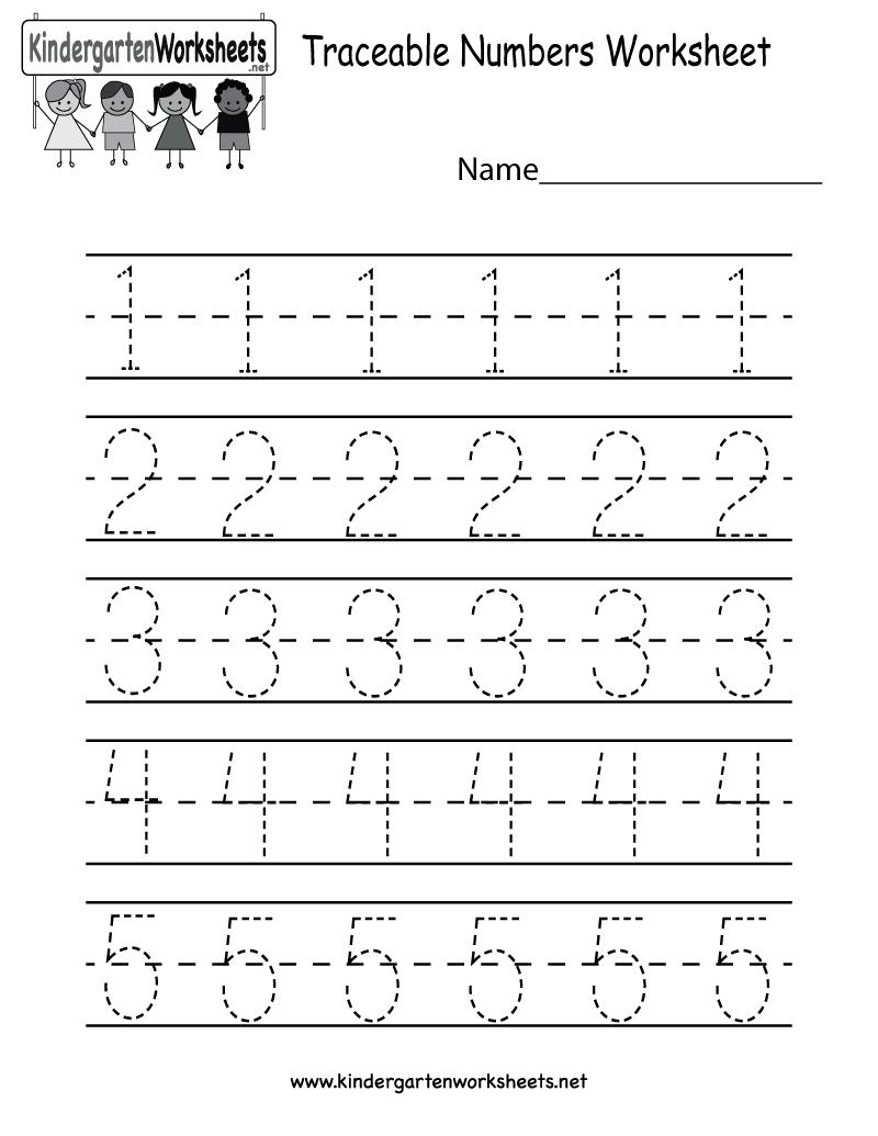 Collection Of Kindergarten Worksheets For Numbers