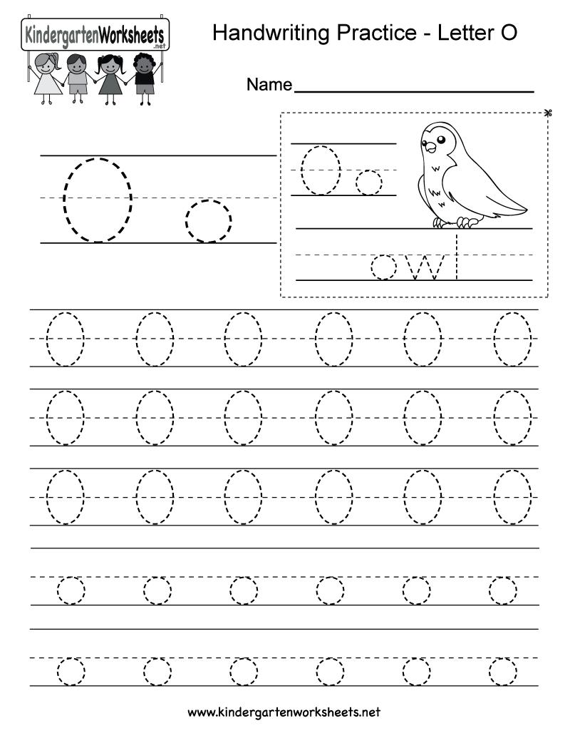 Collection Of Letter O Tracing Worksheets Kindergarten