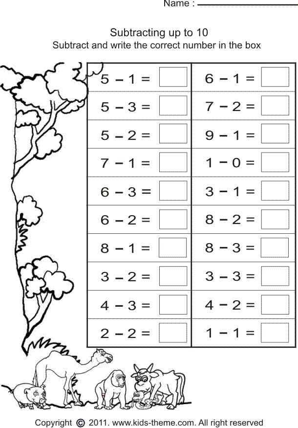 Collection Of Math Worksheets Grade 1 Printable Free