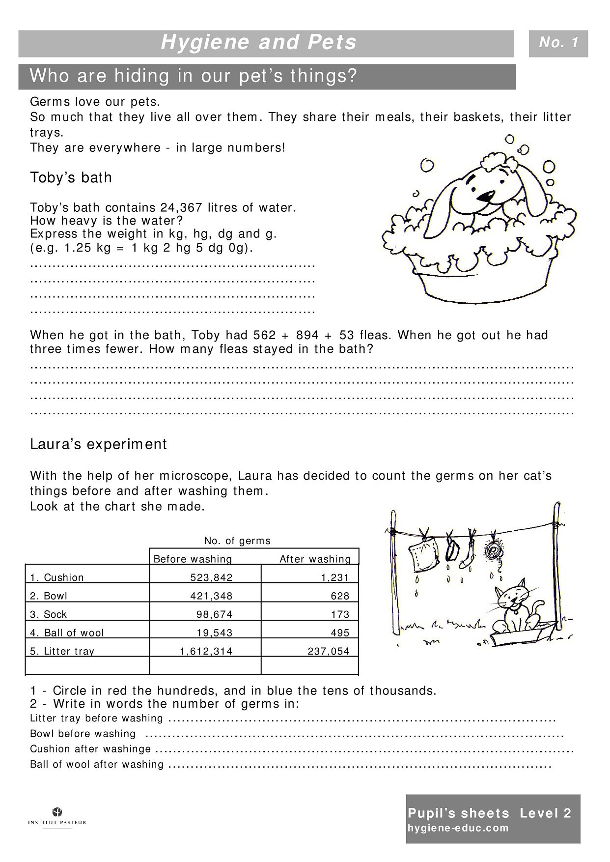 Collection Of Pet Care Worksheets Kindergarten