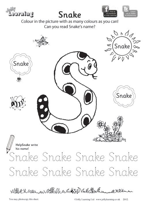 Collection Of Preschool Jolly Phonics Worksheets