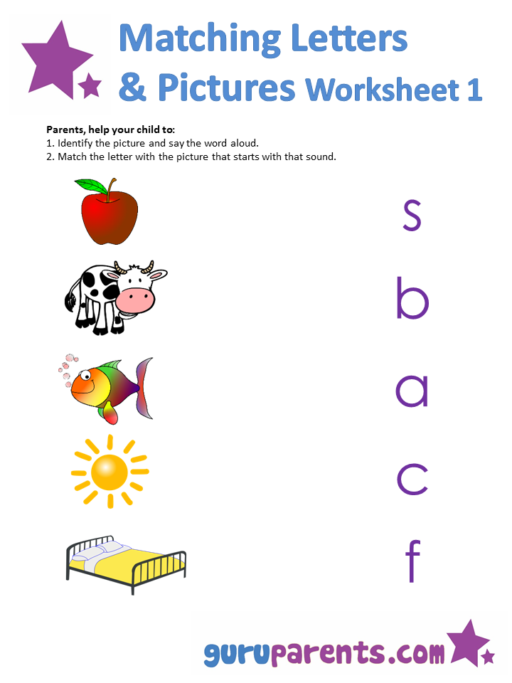 Collection Of Preschool Matching Letter Worksheets