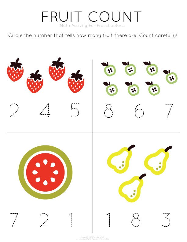 Collection Of Printable Math Worksheets Preschoolers