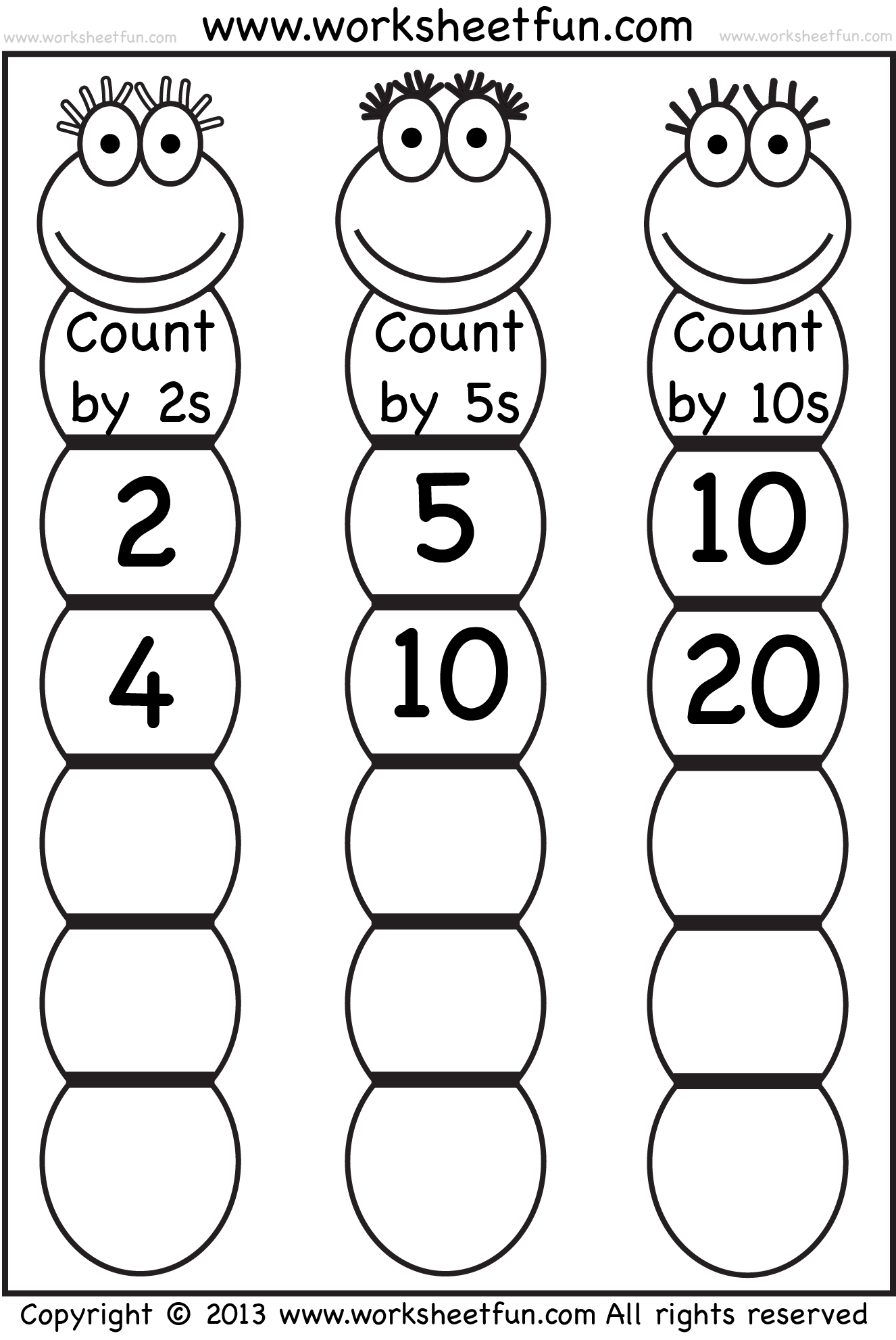 Collection Of Skip Counting By 2 S Worksheets For Kindergarten