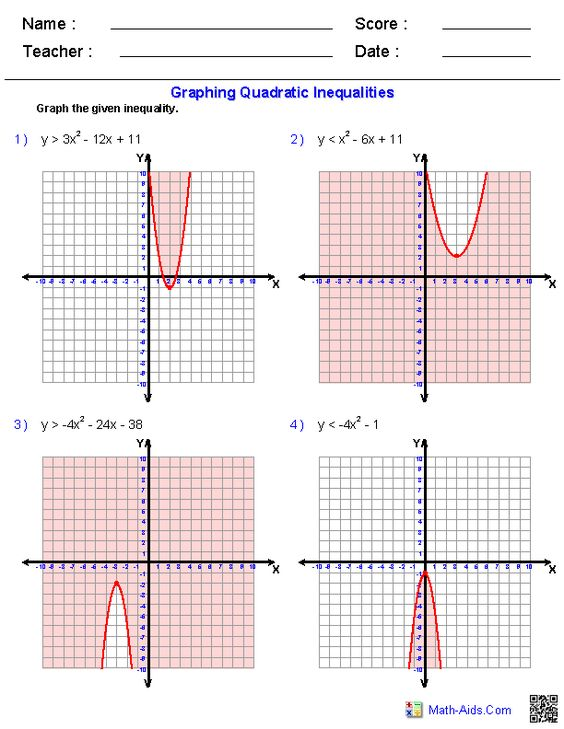 Collection Of The Quadratic Formula Worksheet Math Aids