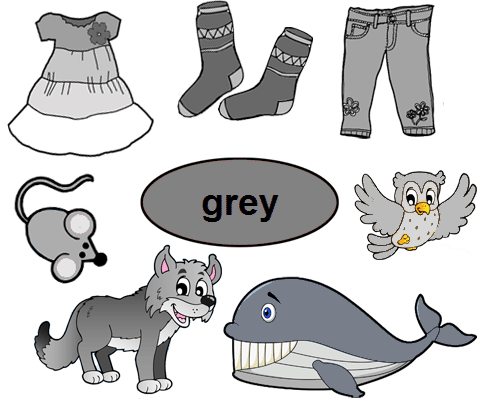 Color Grey Worksheets For Kindergarten