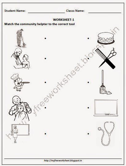 Community Helpers Matching Worksheet The Best Worksheets Image
