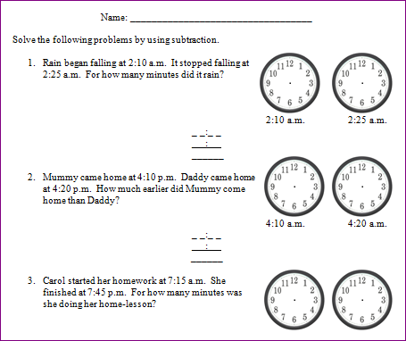 Confortable Printable Elapsed Time Worksheets 2nd Grade With