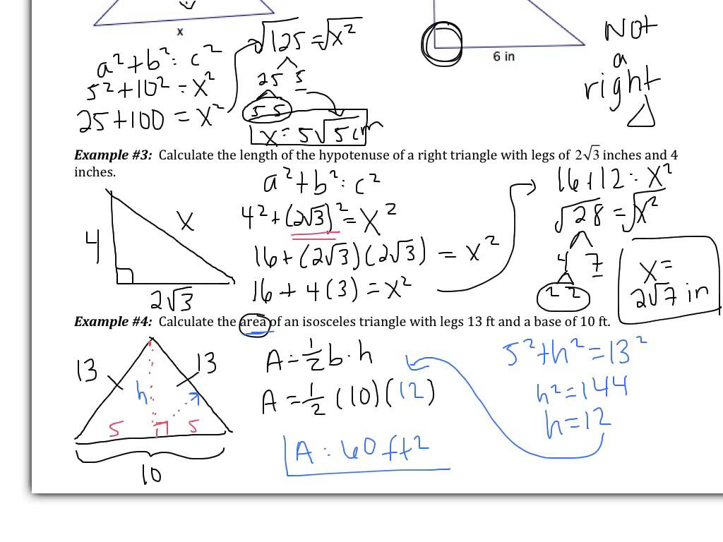 Converse Of The Pythagorean Theorem Worksheet