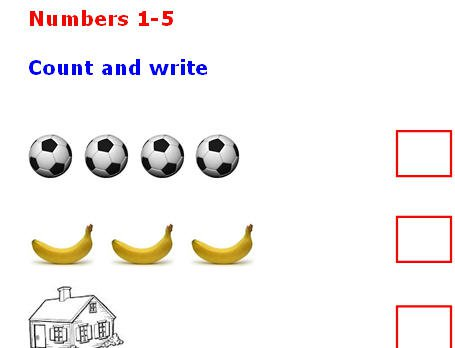 Count And Write The Number
