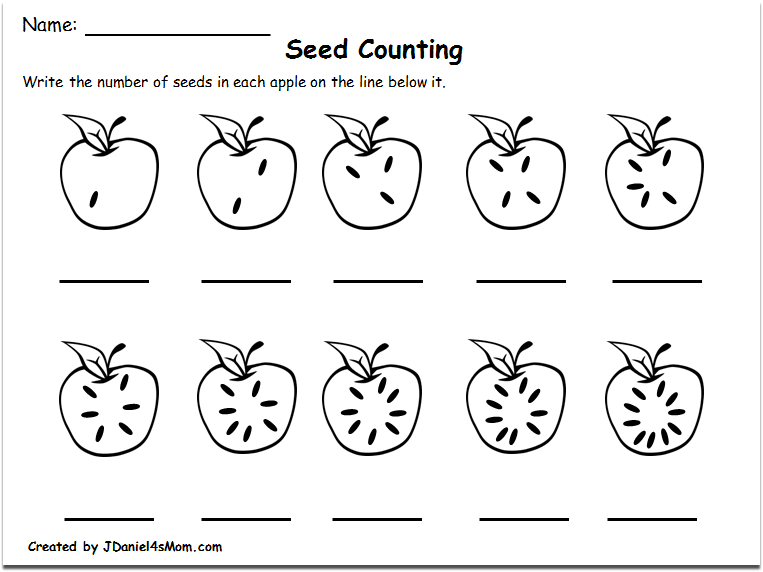 Counting Worksheets Counting Worksheets 1 10 With An Apple Theme