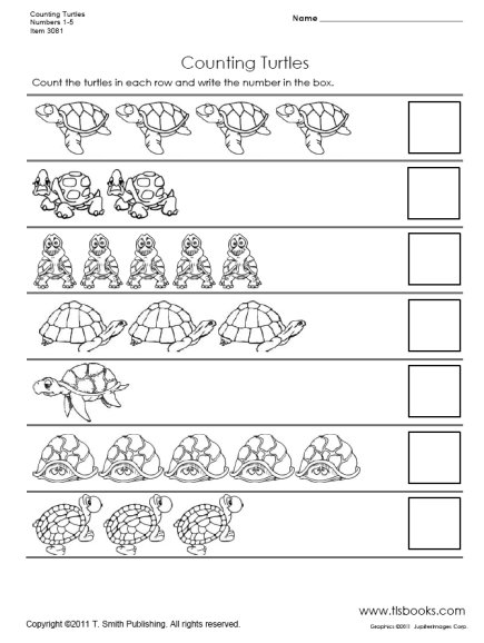 Counting Worksheets For Kindergarten 1 10 The Best Worksheets