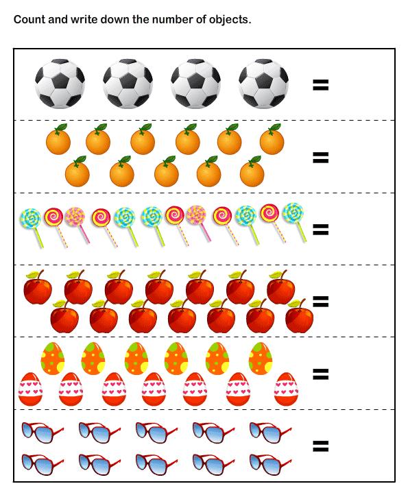 Counting Worksheets For Kindergarten Math Worksheets For Kids