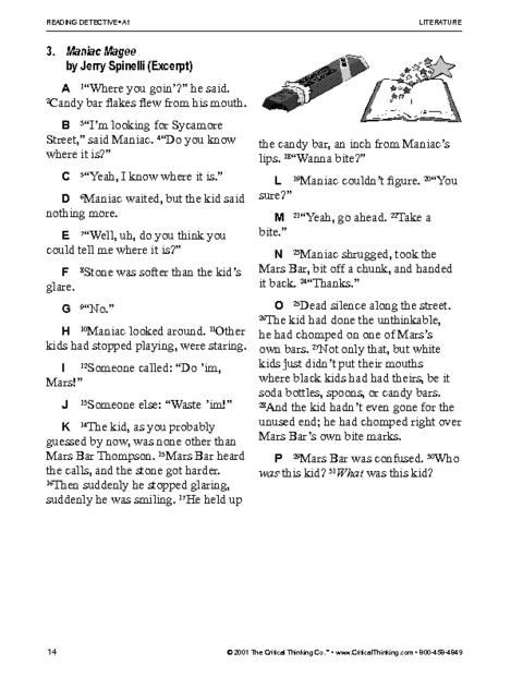 Critical Thinking Worksheet Grades 3