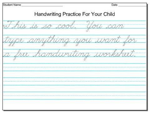 Cursive Handwriting Worksheets All Exercises 2 Worksheet