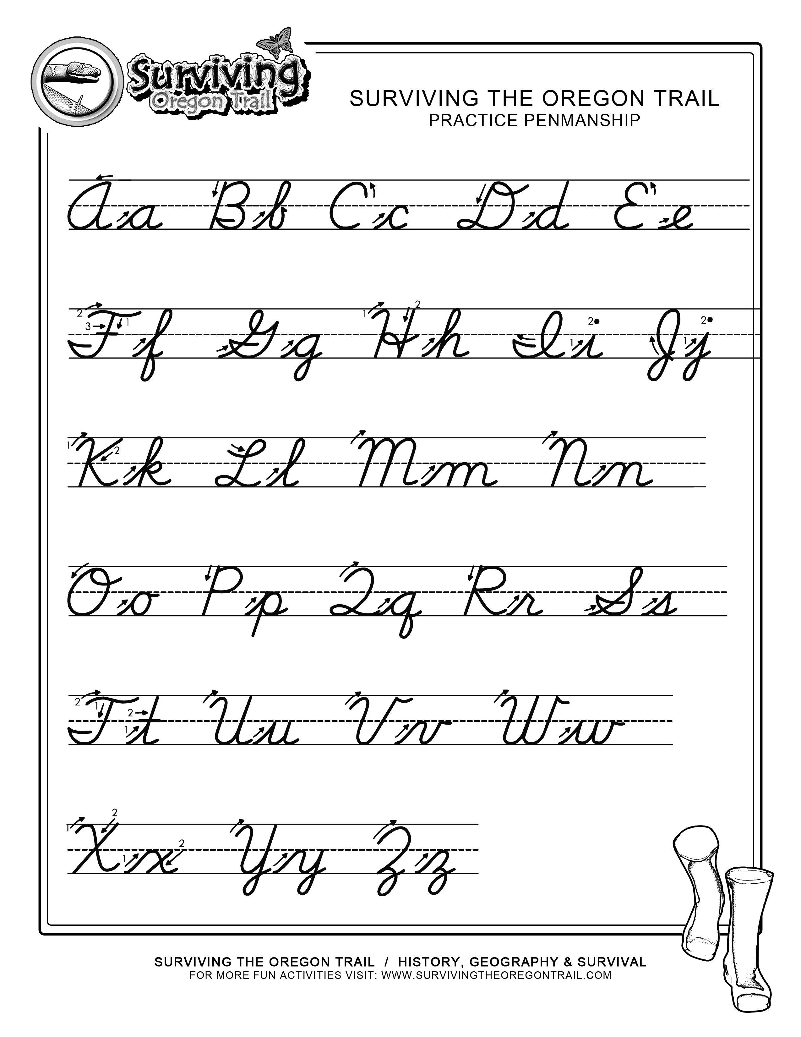 Cursive Handwriting Worksheets Free The Best Worksheets Image