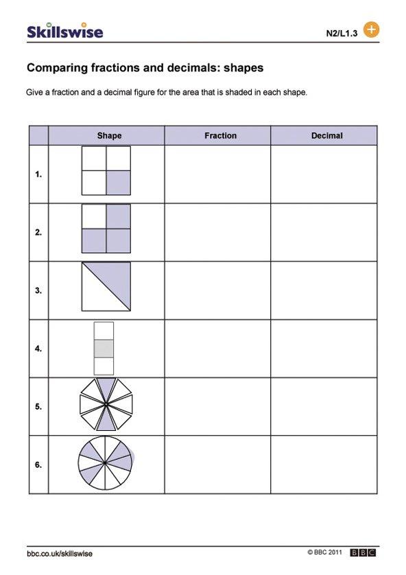 Decimal Fraction Percent Worksheets The Best Worksheets Image