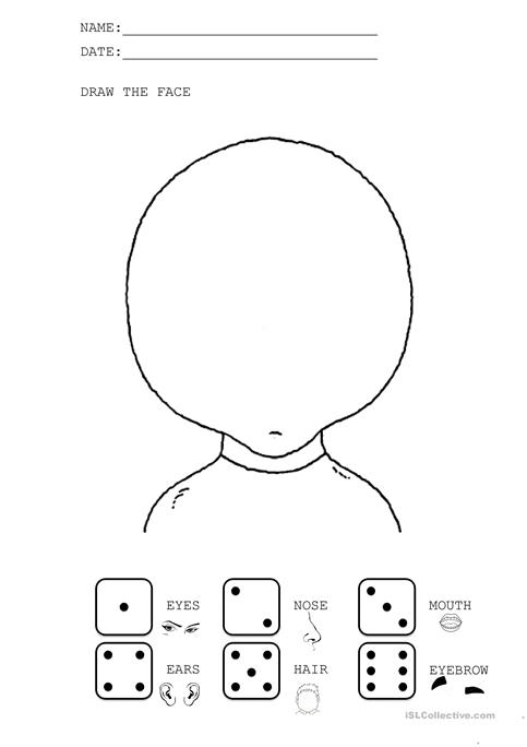 Draw The Face Worksheet