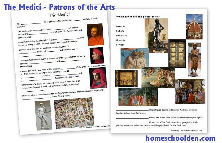 Early Renaissance  The Medici Family And Renaissance Art Notebook