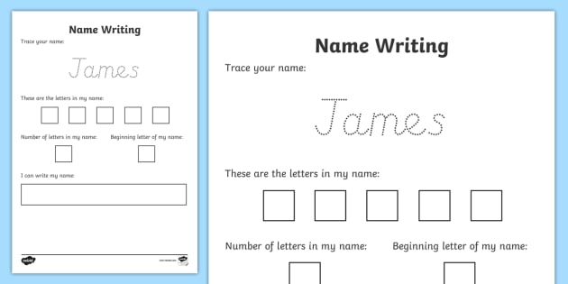 Editable Name Writing Practice Worksheet   Activity Sheet