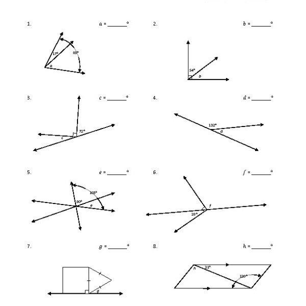 Eighth Grade Adjacent Angles Worksheet 05 – One Page Worksheets