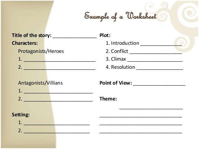 Elements Of A Short Story Worksheet The Best Worksheets Image