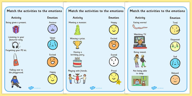 Emotions Activity Worksheets