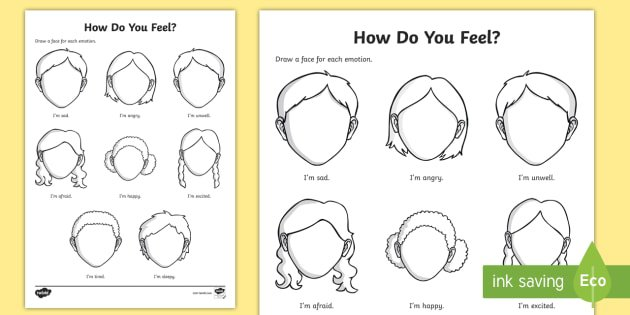 Emotions And Feelings Worksheet   Activity Sheet