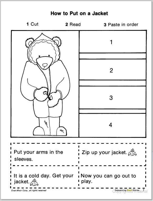 Enchanting Cut And Paste Sequencing Worksheets For First Grade