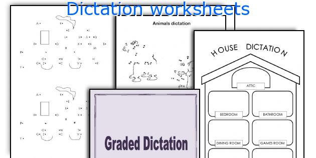 English Teaching Worksheets  Dictation