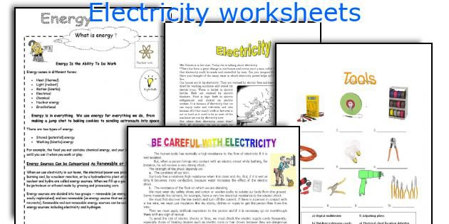 English Teaching Worksheets  Electricity
