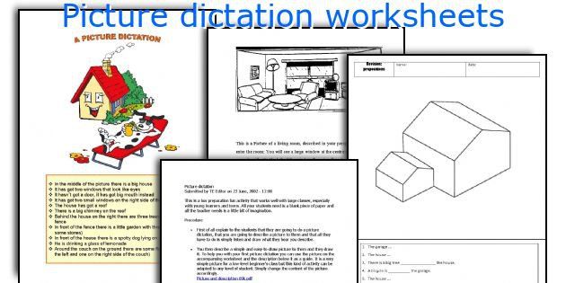English Teaching Worksheets  Picture Dictation