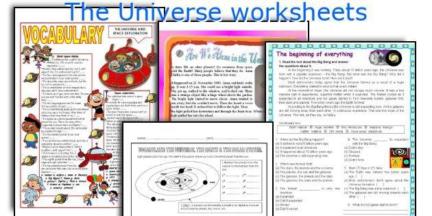 English Teaching Worksheets  The Universe