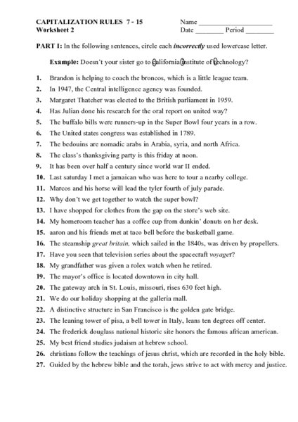 English Worksheets For 9th Grade