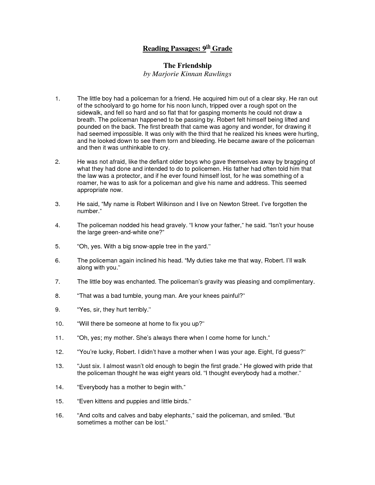 English Worksheets For 9th Graders The Best Worksheets Image
