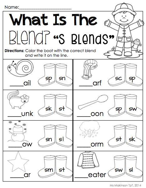 Extraordinary Free Blends Worksheets For Kindergarten With 1114